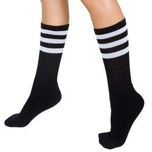 American apparel Striped Calf Sock, One Size